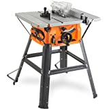"""VonHaus Table Saw 8"""" (210mm) 5000 RPM 15000W - Circular Mitre Function – High Spec with Attachable Table Sides – Make Longitudinal & Angle Cuts with Carbide-Tipped Saw Blade"""