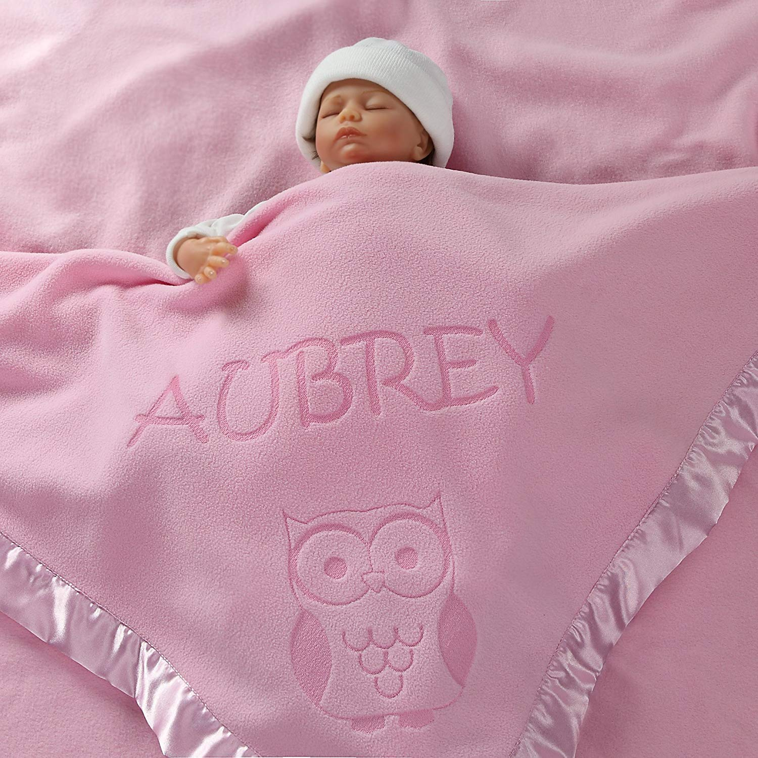Comforter Security Blanket Personalised Embroidered  Pastel Lamb Baby Blankie
