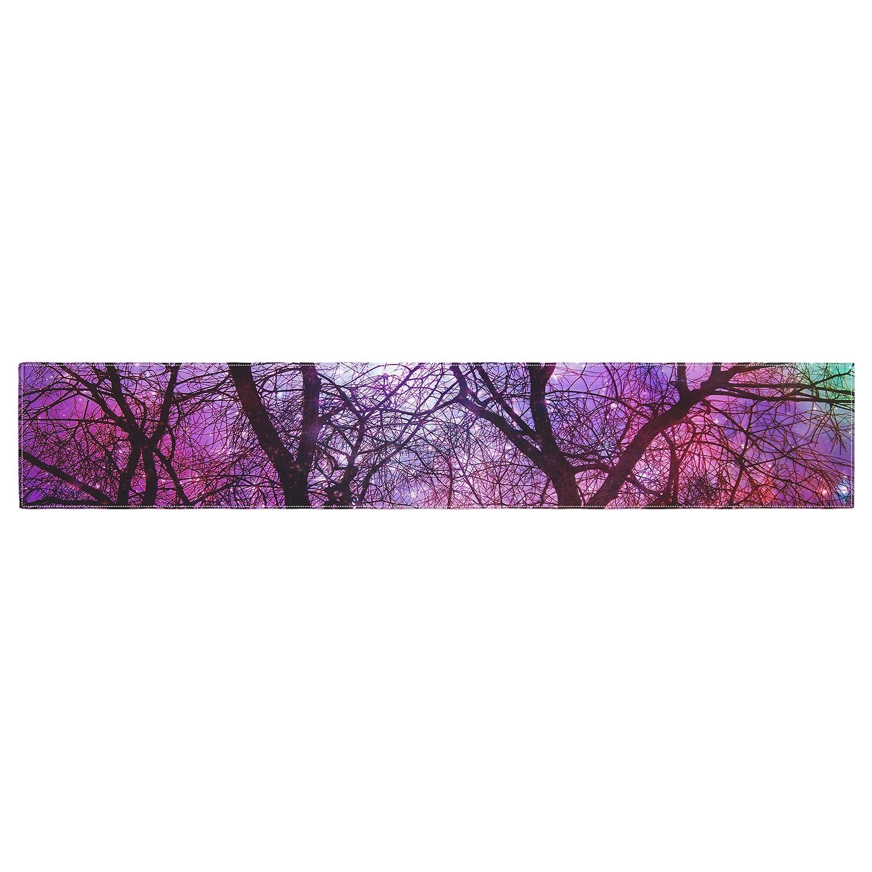 Kess InHouse Suzanne Carter Starry Night Purple Pink Table Runner