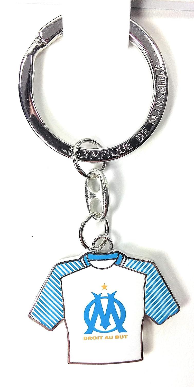offizielles Lizenzprodukt Trikot Olympique de Marseille La Feder Gold Om Schl/üsselanh/änger aus Metall
