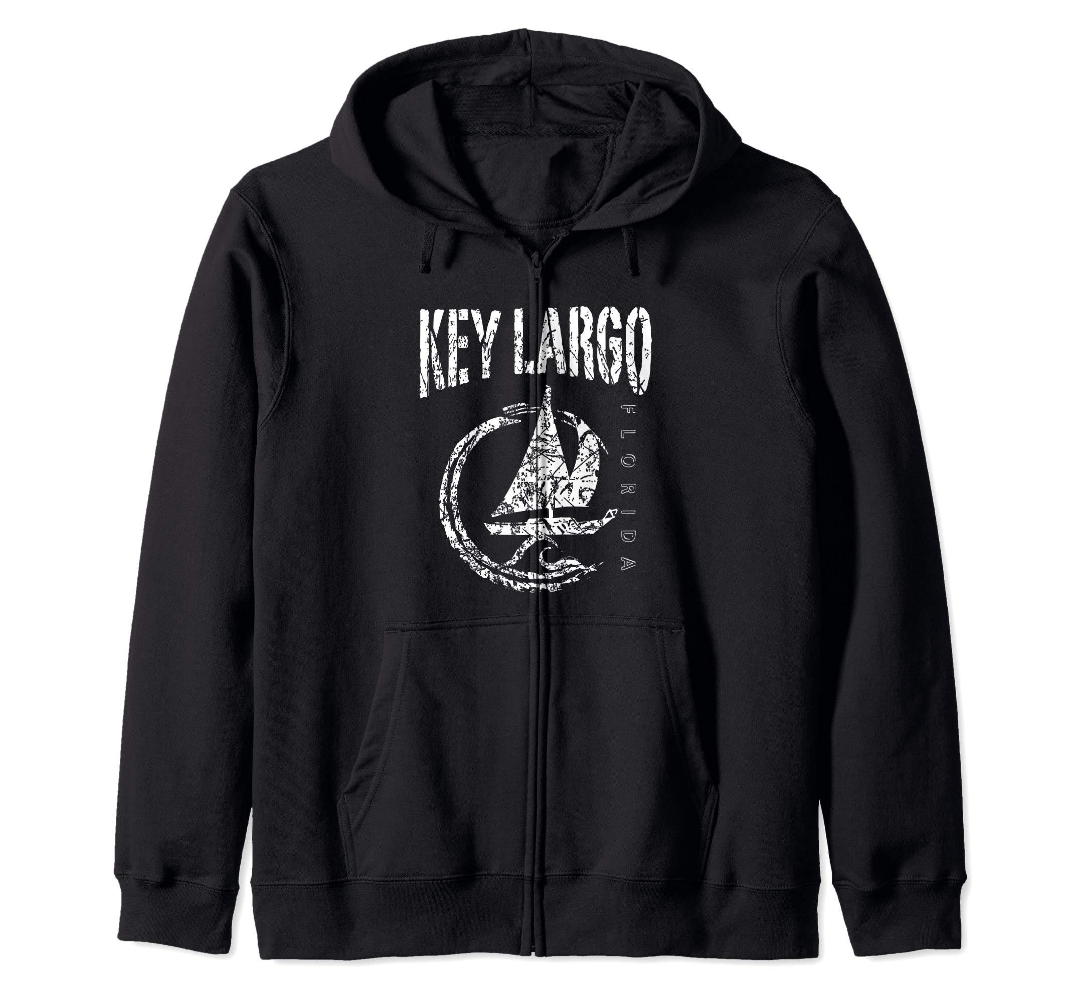 Key Largo Florida Souvenir, Sailboat Sailing Zip Hoodie by KEY LARGO Souvenir Gift Florida Sailing FL