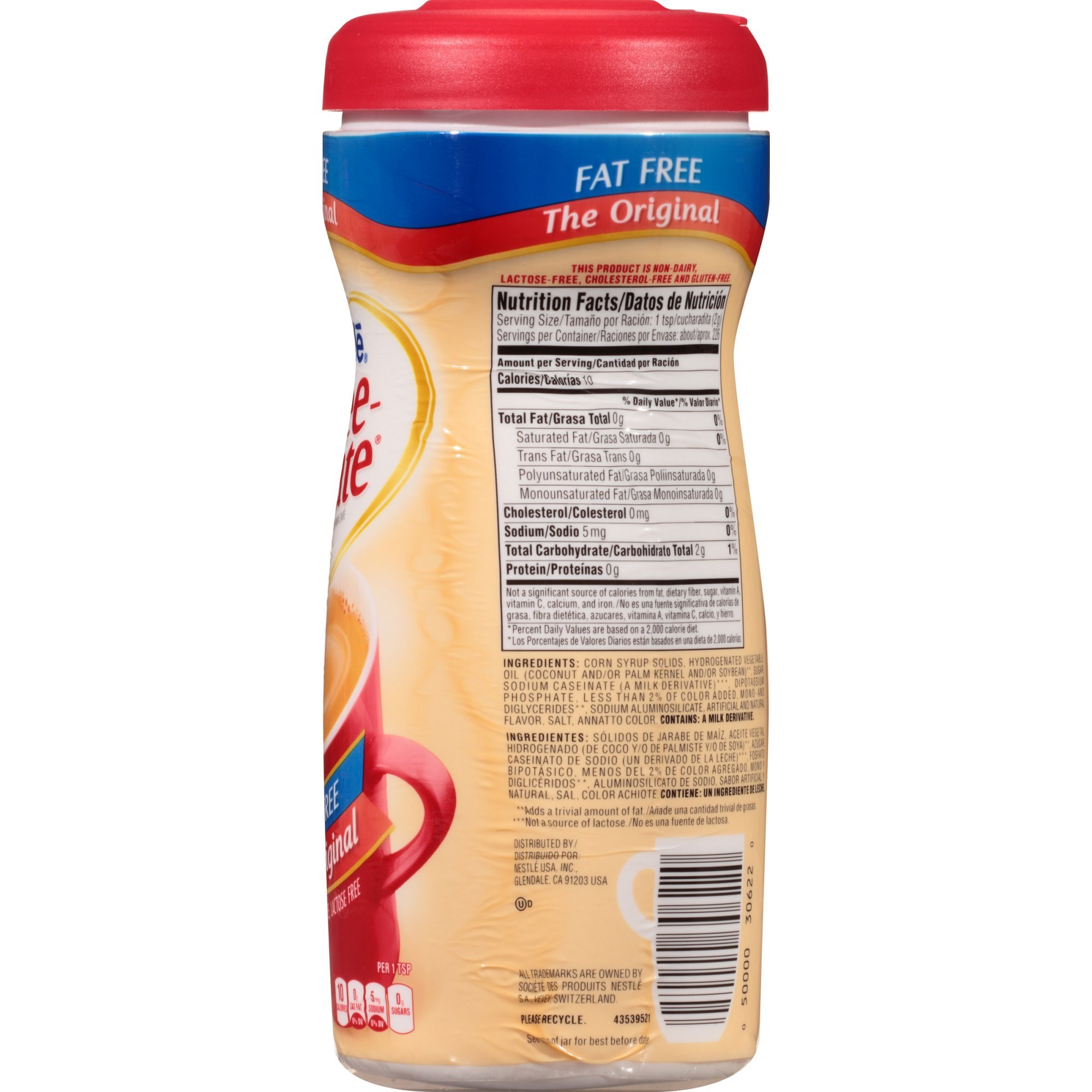 COFFEE-MATE Original Fat Free Powder Coffee Creamer 16 oz. Canister (Pack of 3)