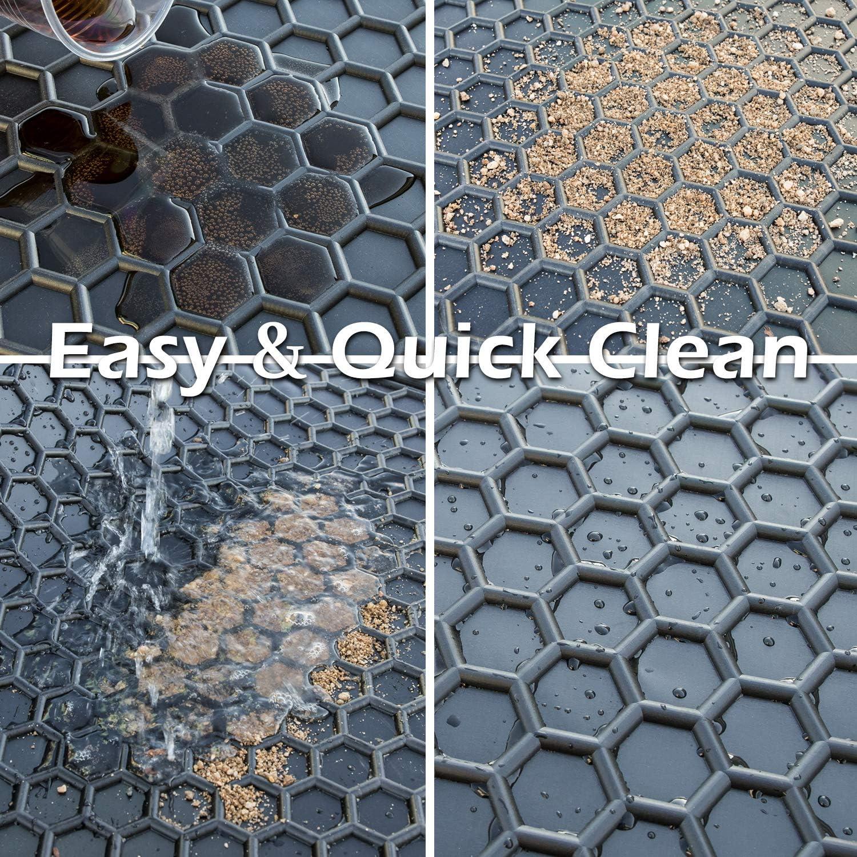Black All Seasons Odorless E-cowlboy Floor Mat Liner for Toyota 4Runner 2010~2019 Double Cab Heavy Duty Rubber Front /& Rear Car Carpet Custom Fit