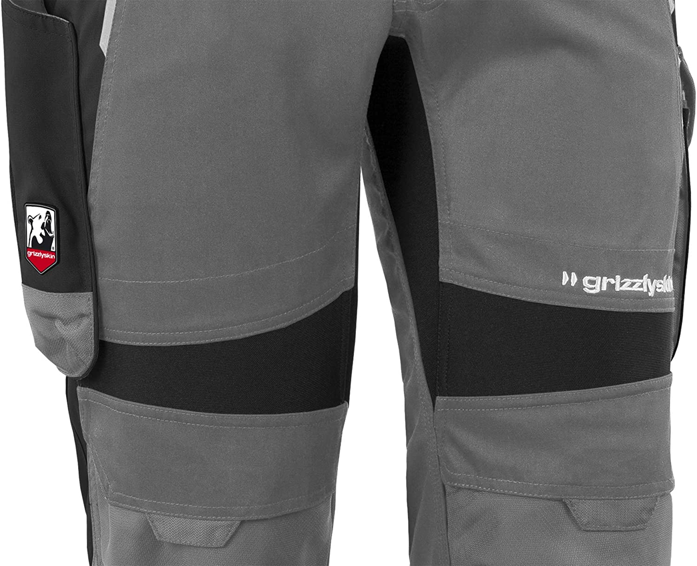 Grizzlyskin Bundhose Kurzgr/ö/ßen Unisex Workwear Arbeitshose f/ür M/änner und Damen mit vielen Taschen Cordura-Schutzhose