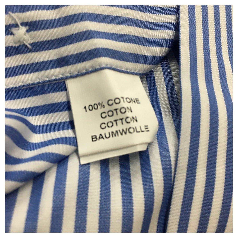 BRANCACCIO Camicia Uomo Righe Bianco//Azzurro 100/% Cotone Doppio Ritorto Slim