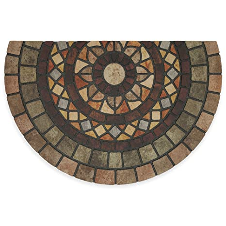 Mosaic Mythos, Recycled Rubber Slice Door Mat By Mohawk 23 Inch X 35