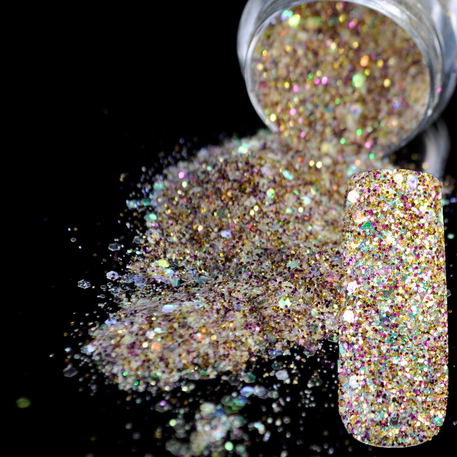 Amazon.com: White Holographic Glitter Powder Dust Nail Art Makeup ...