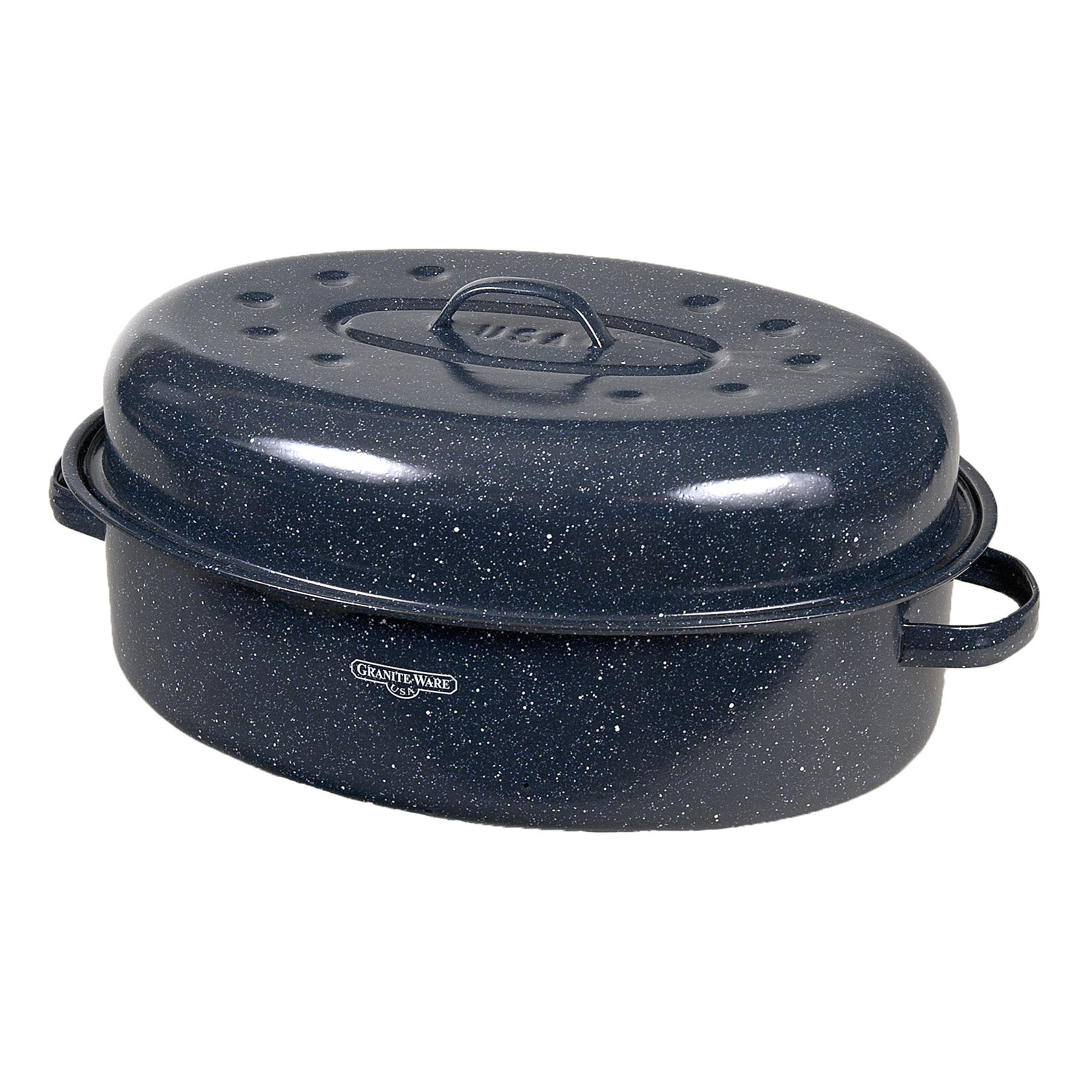 Granite Ware 19-Inch Covered Oval Roaster by Granite Ware