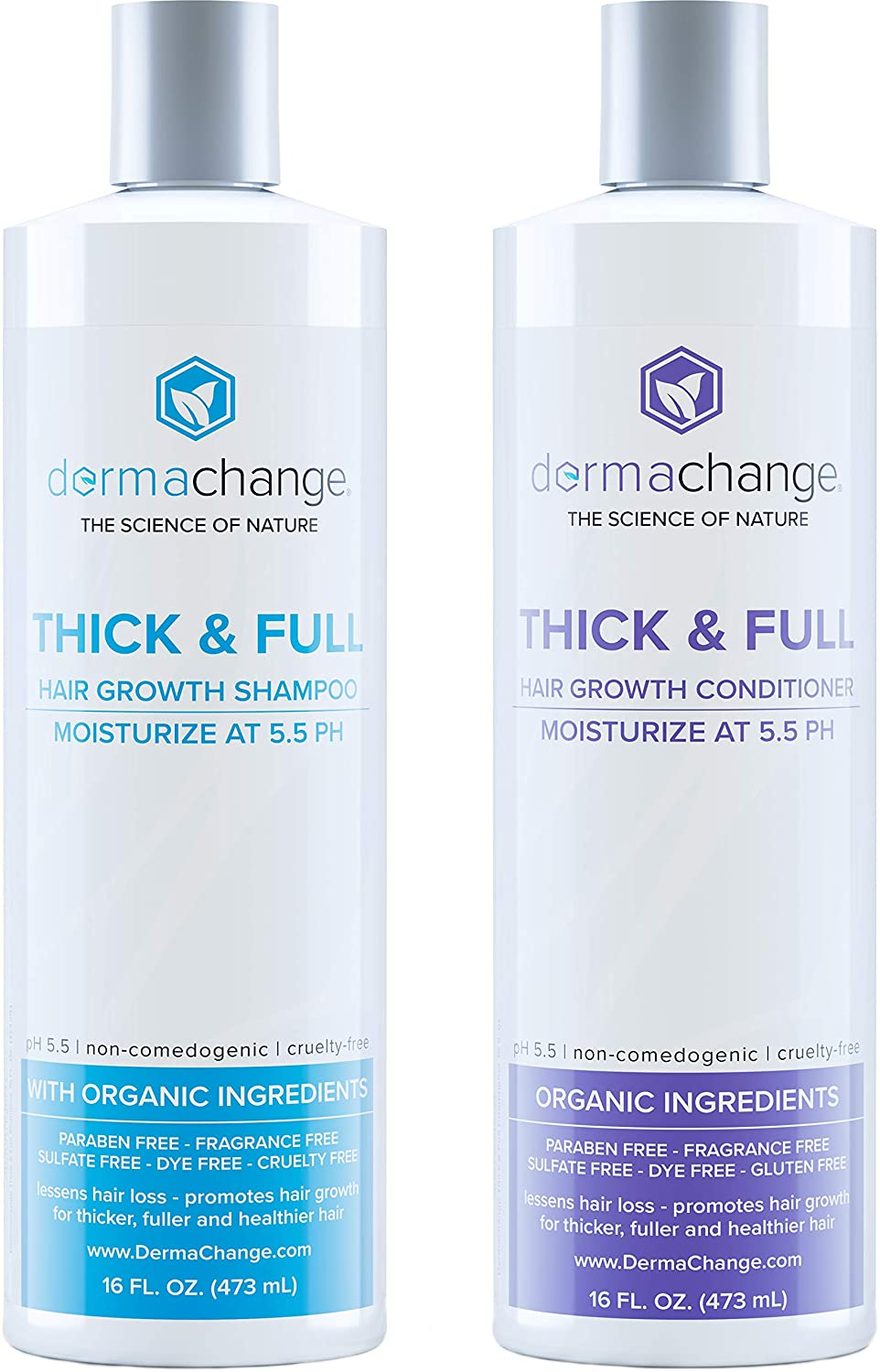 DermaChange Organic Vegan Hair Growth Shampoo