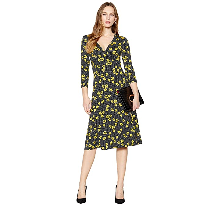 09d633493784a Principles Womens Navy Floral Spot Print Knee Length Dress: Principles:  Amazon.co.uk: Clothing