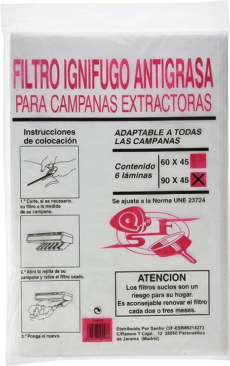 Sanfor - Filtro campana papel 90 ignifugo: Amazon.es: Bricolaje y herramientas