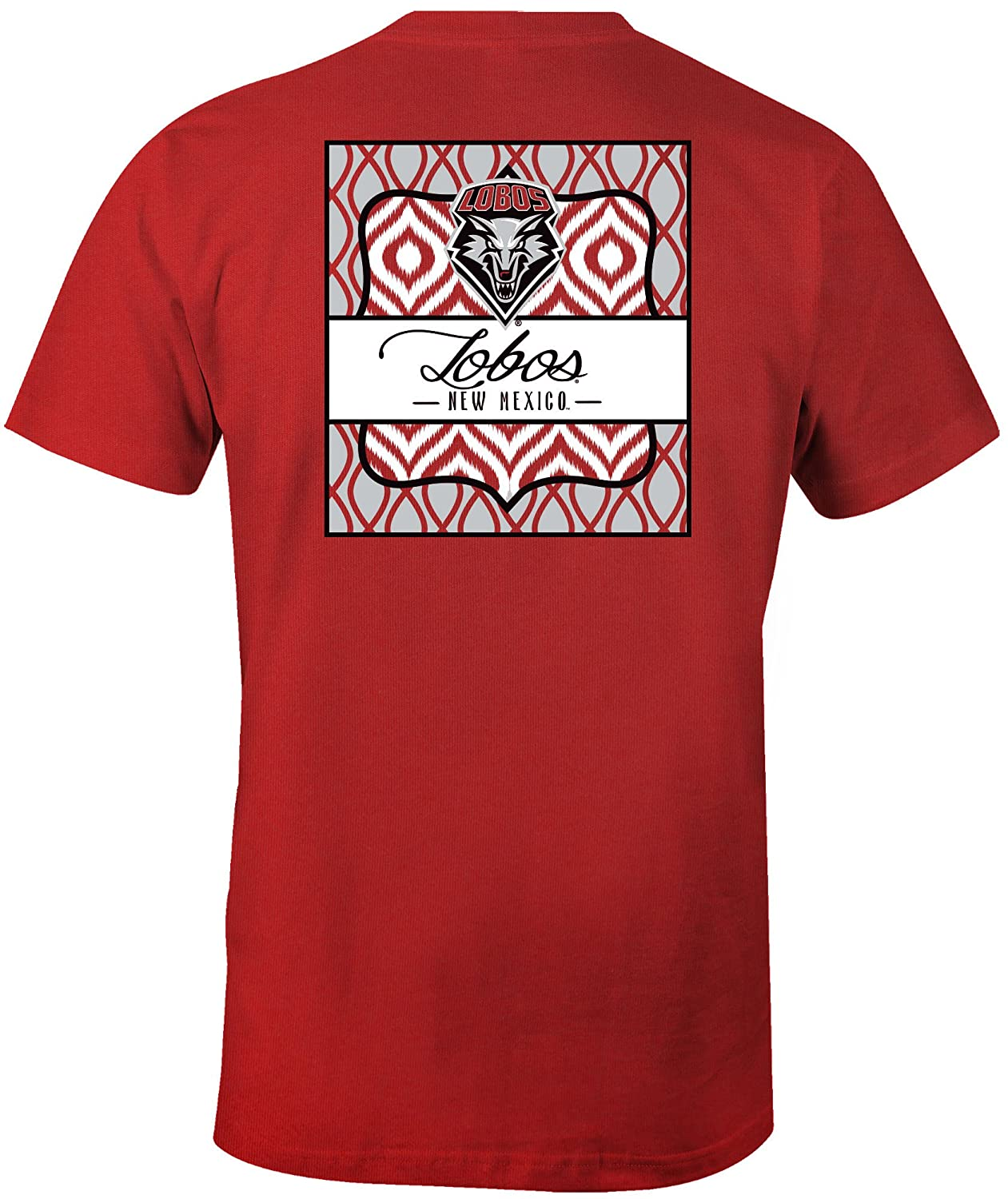 NCAA New Mexico Lobos Womens Double Pattern Scroll Favorite Short sleeve T-Shirt Medium,Red