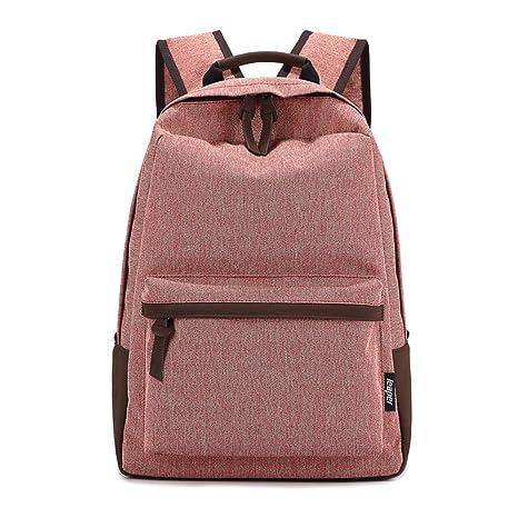 HAOXIAOZI Light Backpack Niños Y Teen Color Limpio Bolsas ...