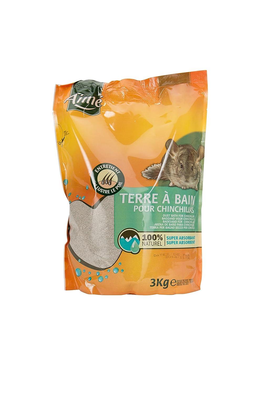 Aime Fond de Cage Terre à Bain pour Chinchilla 3 Kg Agrobiothers 100181