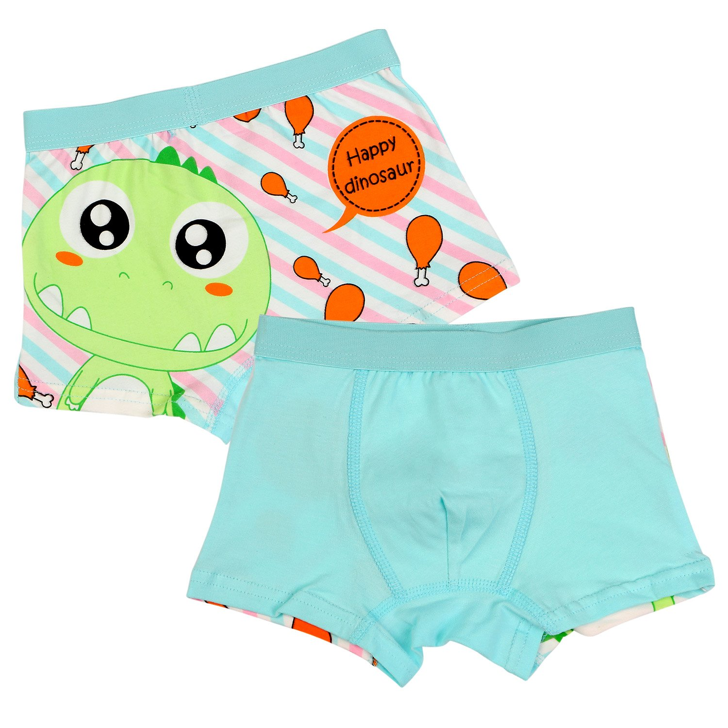 BOOPH Little Boys Underwear, Cotton Dinosaur Baby Toddler Boxer Briefs Underpant for Boy 4-6 Years (Pack of 4) by BOOPH (Image #2)