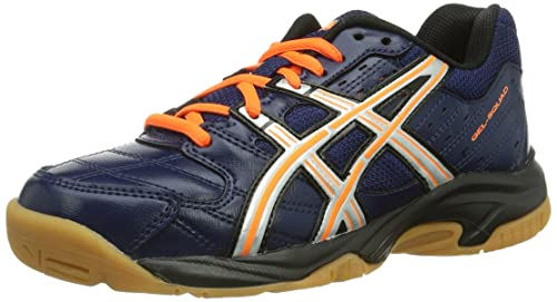 Asics Gel-Squad, Zapatillas de Balonmano Niños, Blau (Navy/Lightning/Neon Orange 5093), 35 EU: Amazon.es: Zapatos y complementos