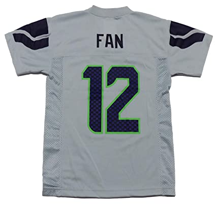 Amazon.com   Fan  12 Seattle Seahawks Gray Youth Alternate Mid Tier ... 92f6abc192d4