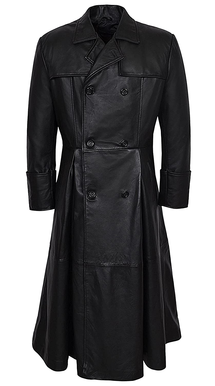 info for online here top-rated Smart Range Men's Morpheus Full Length Matrix Leather Jacket Coat