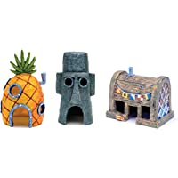 Penn-Plax Officially Licensed Nickelodeon SpongeBob SquarePants Aquarium Ornaments - Safe for Freshwater and Saltwater…