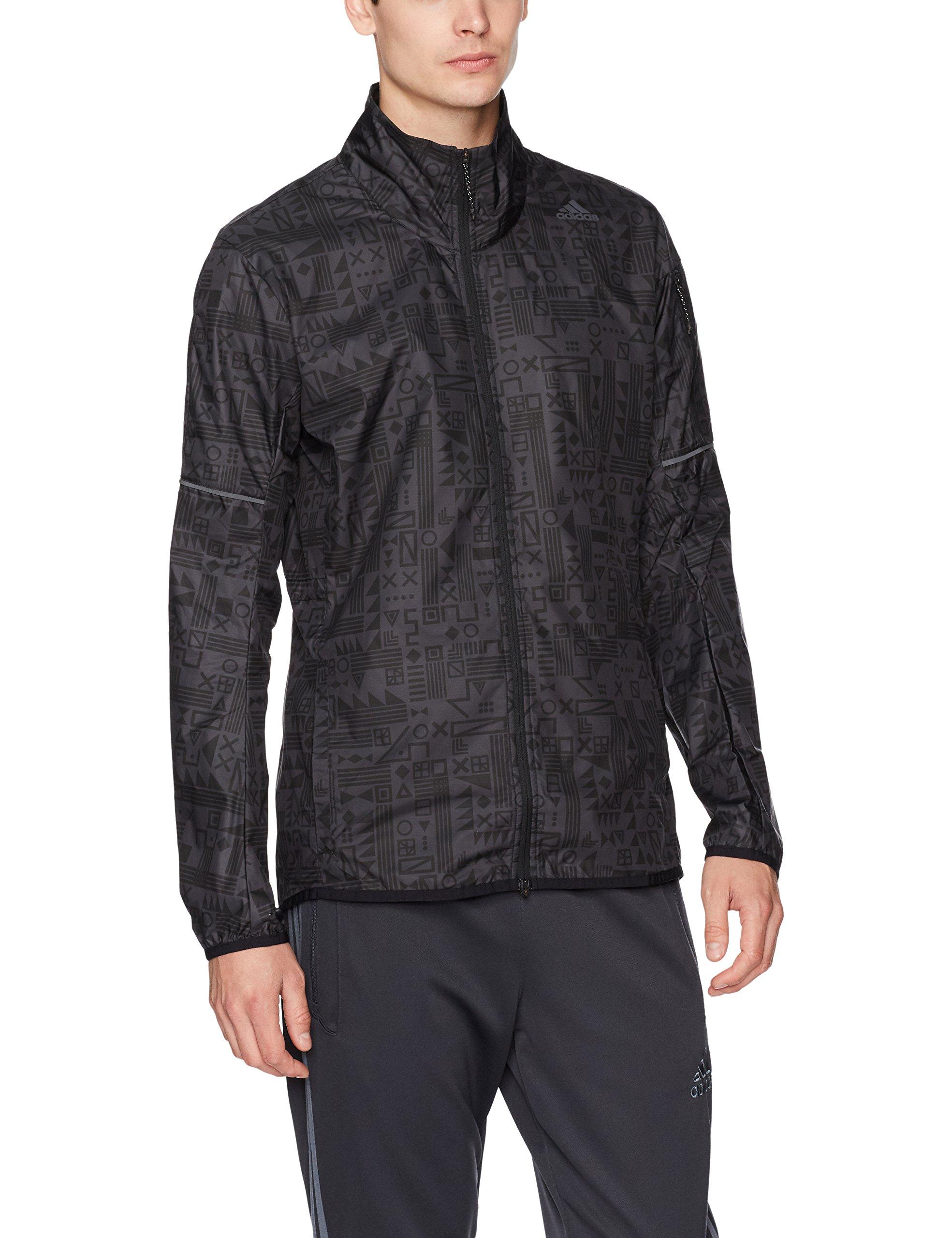 adidas Men's Running Supernova Tokyo Jacket, Black/Utility Black, Medium by adidas (Image #1)