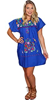134a0c10b99 Threads West Embroidered Chanel Style Mexican Peasant Mini Short Dress