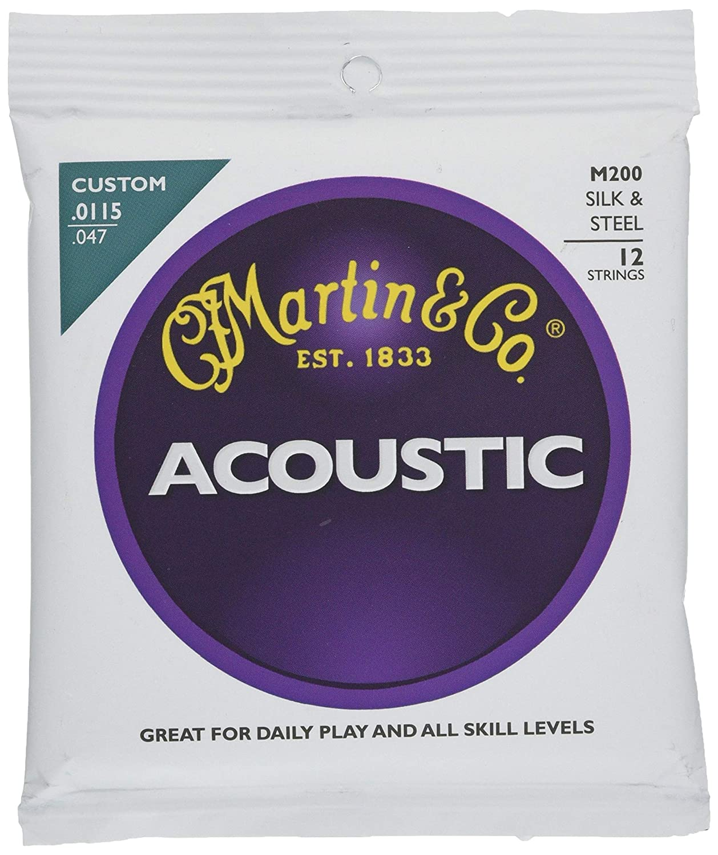 seda y acero, 12 unidades Martin M200 115-047 Cuerdas para guitarra ac/ústica
