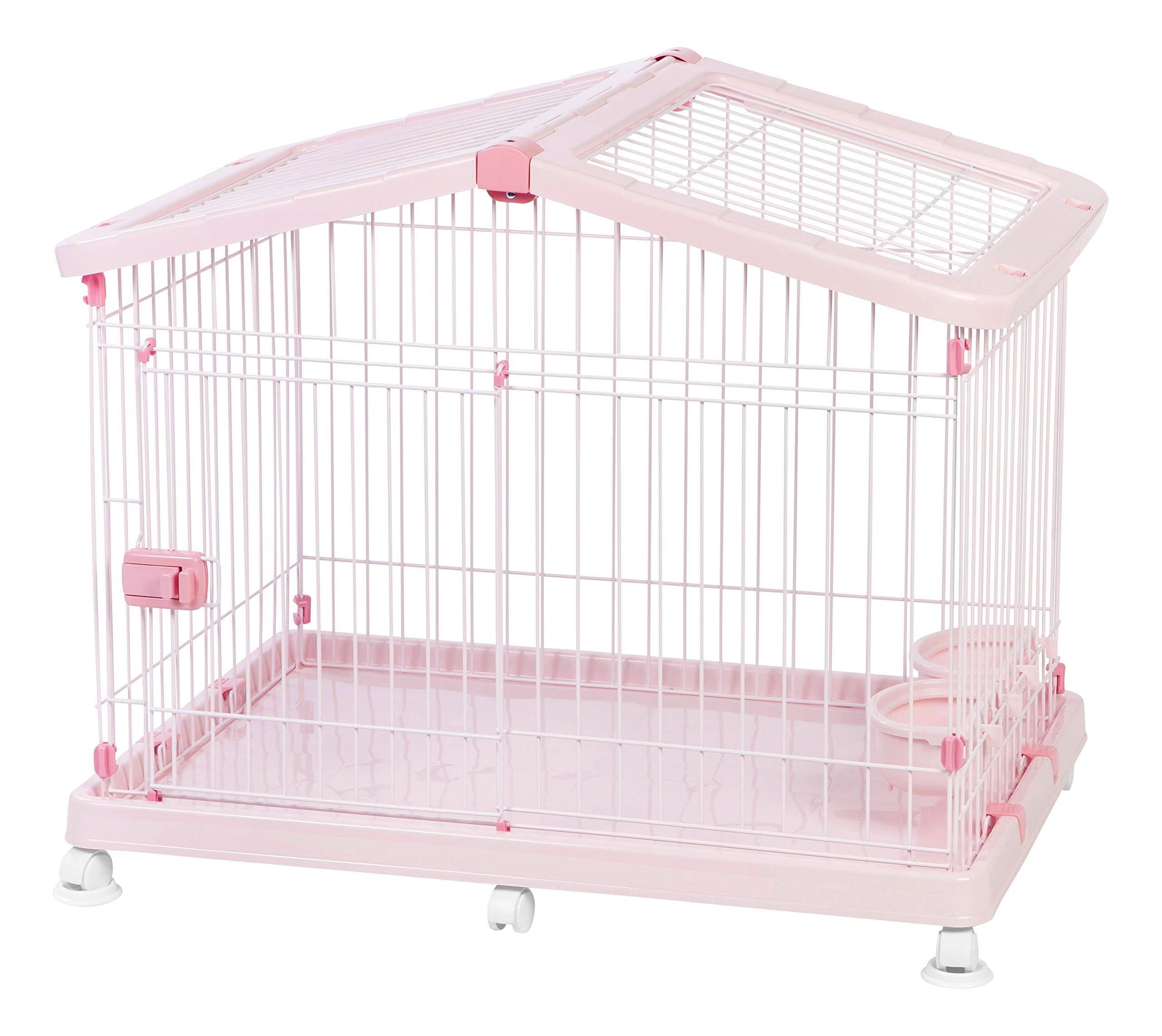 IRIS Small Wire Animal House, Pink