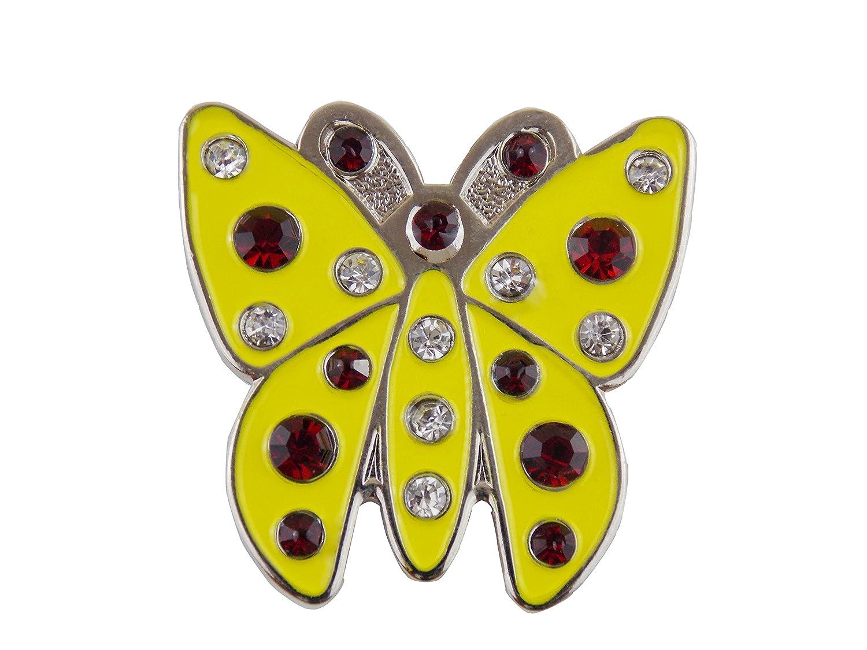 Cristal mariposa Amarilla marcador de pelota de Golf Mercia ...