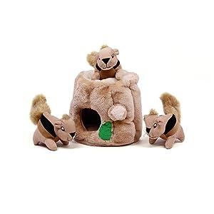 Hide-A-Squirrel Puzzle Plush Squeaking Toys