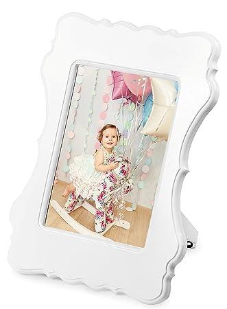 Amazon.com - Mimi Frame - White Vintage 5x7 Inches Wooden Photo ...
