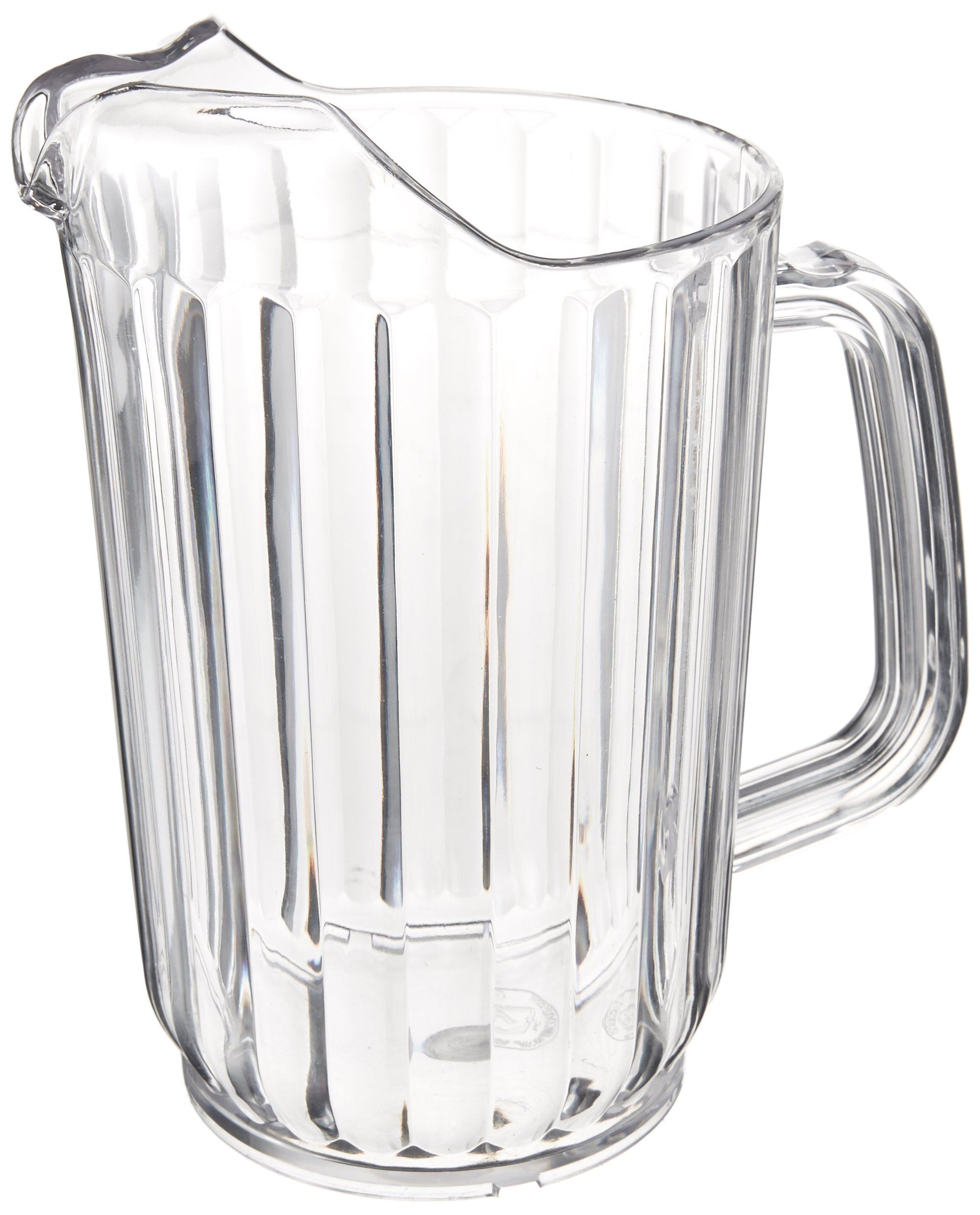 Winco Polycarbonate Clear Water Pitcher, 32 Ounce - 1 each.