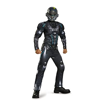 Spartan Locke Classic Muscle Halo Microsoft Costume, Medium/7-8: Toys & Games