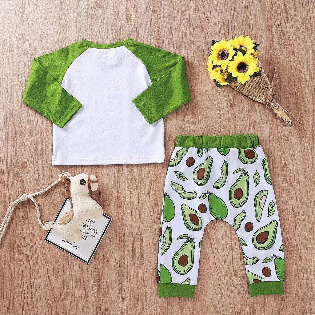 Baby Clothes Set 2 Pcs Set Long Sleeves Floral T-Shirt Tops Pants Set Outfit Clothing