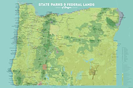 Oregon State Parks Map Amazon.com: Best Maps Ever Oregon State Parks & Federal Lands Map