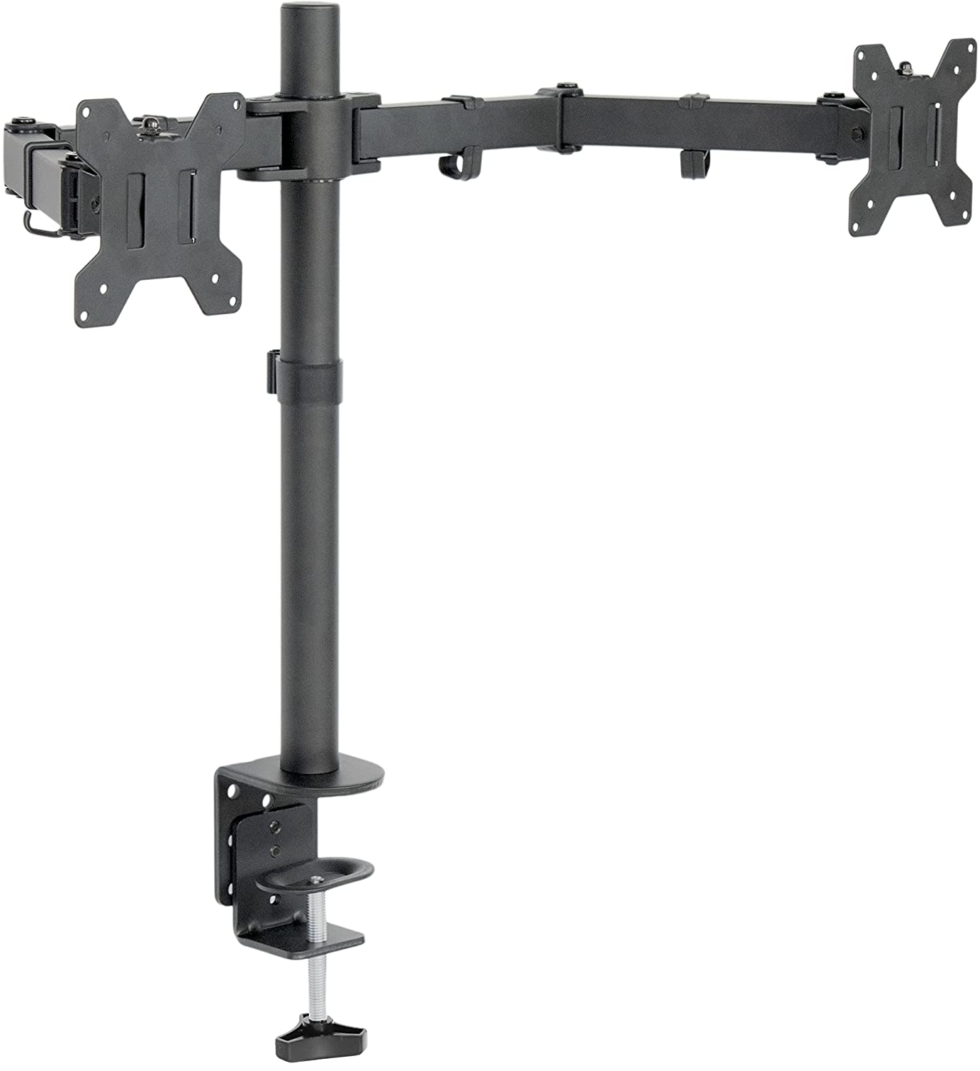 """VIVO Dual LCD LED Monitor Desk Mount Stand Heavy Duty Fully Adjustable fits 2/Two Screens up to 27"""" (STAND-V002)"""