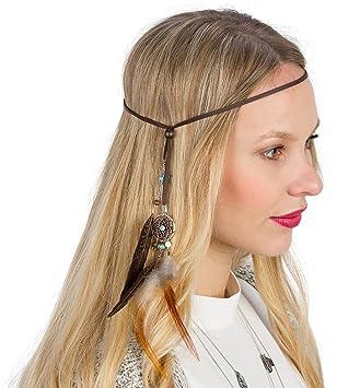 Six Haarband Mit Traumfanger Und Federn Indianerkopfschmuck In