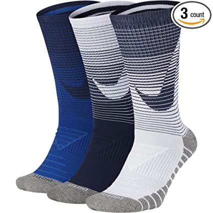 d22443c55 Nike Unisex Dry Cushion Crew Training Sock (3 Pair) Multi Color, Large (