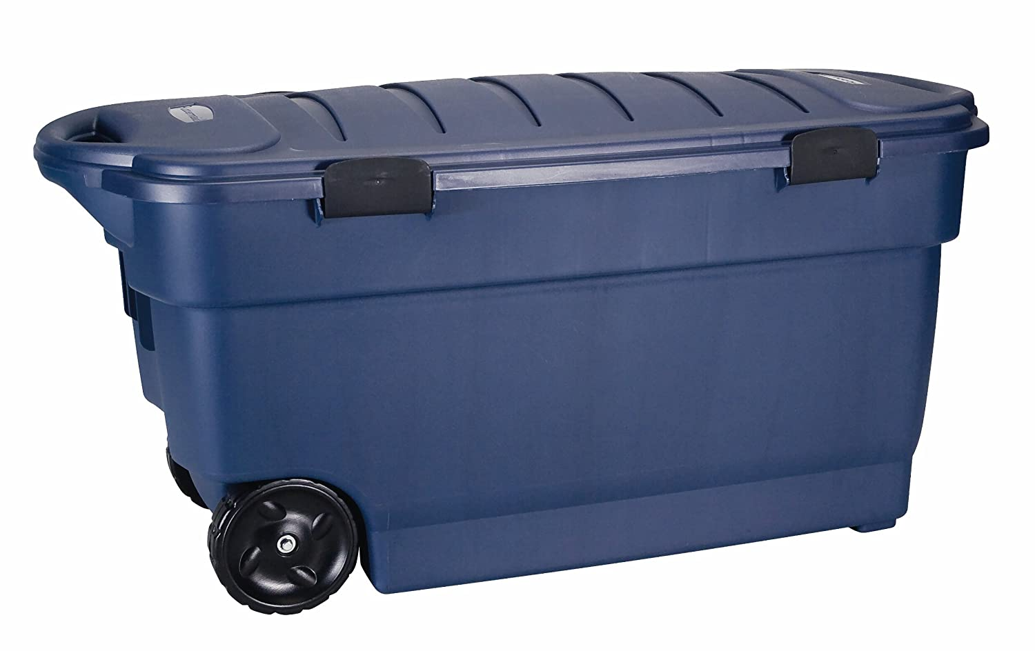 Charmant Amazon.com: Rubbermaid Roughneck ToteLocker Wheeled Storage Container, Dark  Indigo Metallic, 45 Gallon (FG246300DIM): Home U0026 Kitchen