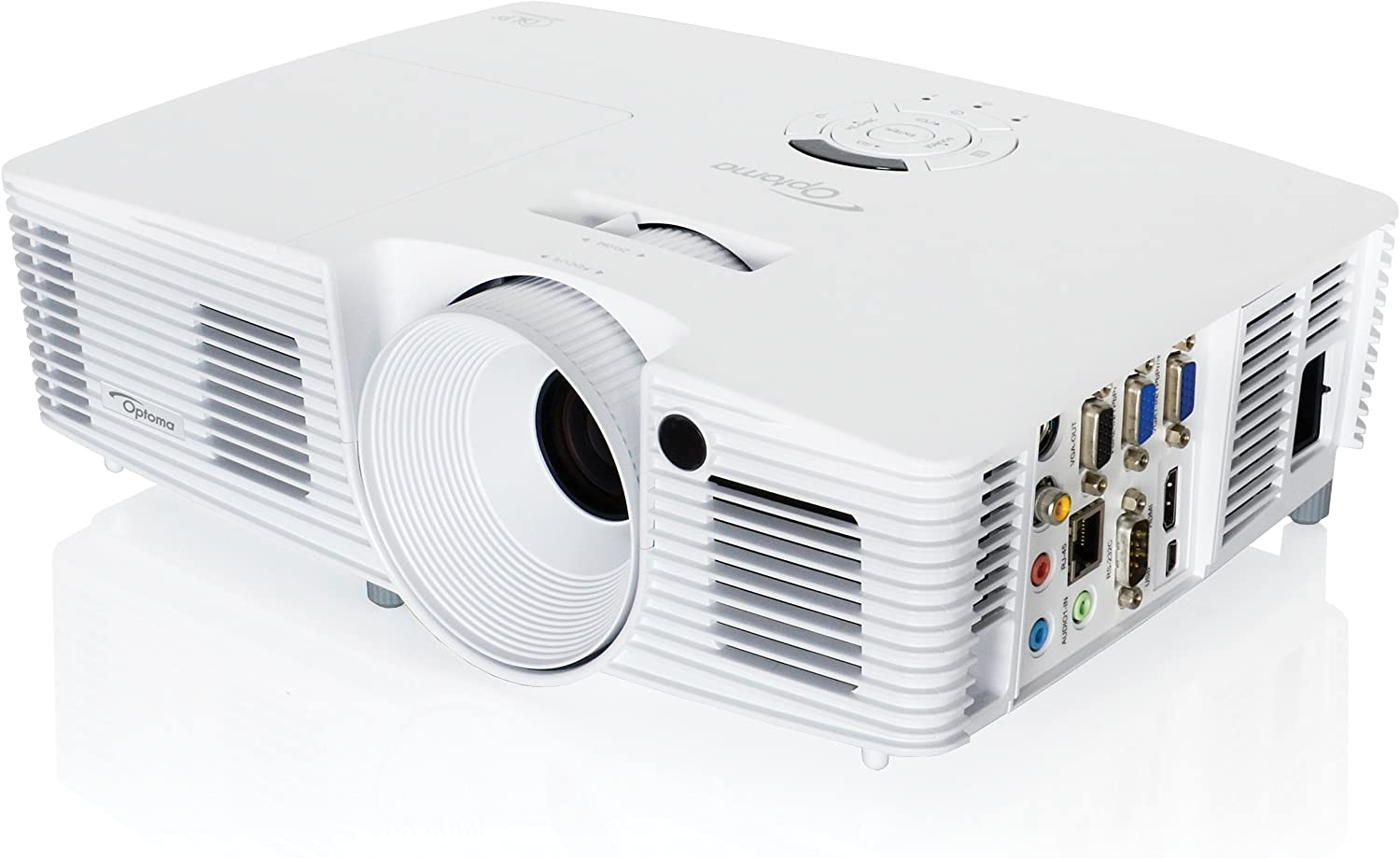 Optoma W351 Full 3D WXGA 3800 Lumen Multimedia DLP Projector with Superior Connectivity and Extended Lamp Life