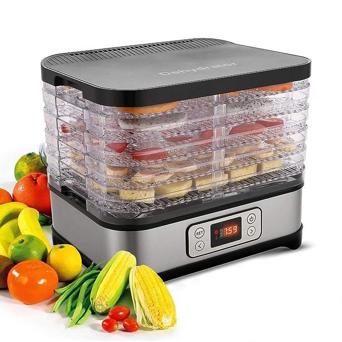 Lonlier Deshidratador Eléctico de Alimentos Máquina deshidratadora Multinivel Profesional Secado de Frutas, Carne y Verduras: Amazon.es: Ropa y accesorios