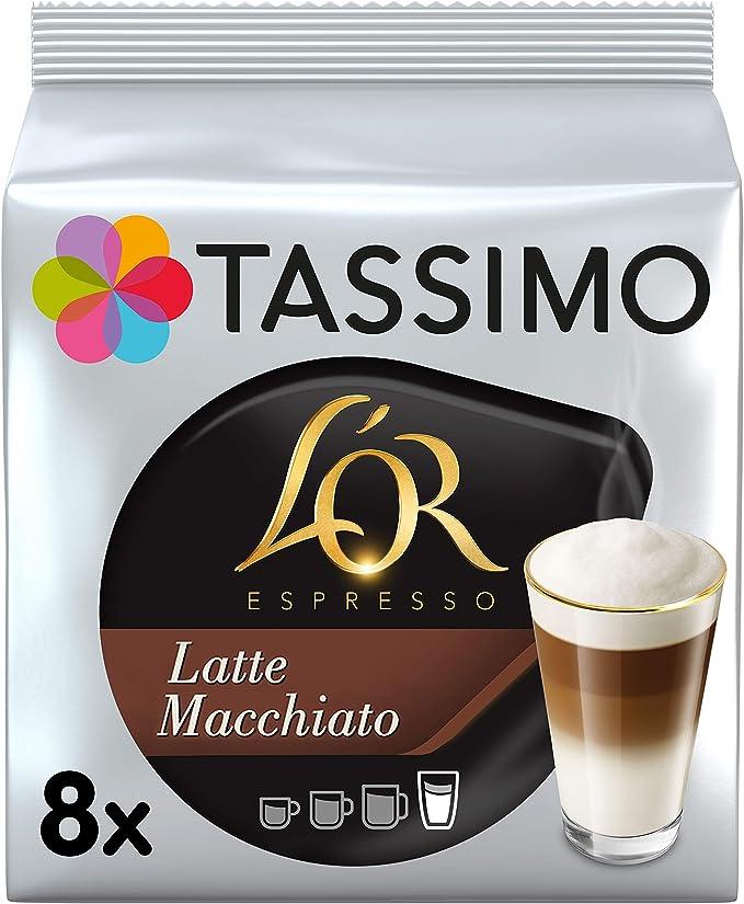 Tassimo LOR Latte Macchiato, 80 Cápsulas (T DISCs) compatibles con cafeteras Tassimo Bosch - 5 Paquetes de 16 Unidades: Amazon.es: Alimentación y bebidas