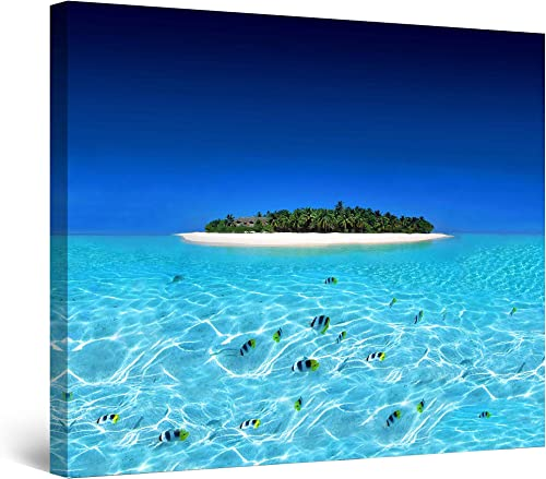Startonight Canvas Wall Art Exotic Holiday Destination Beach