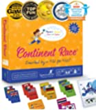 Continent Race Geography for Kids Card Game - Kids 7+ Award Winning - Learn Continents & Countries World Map…