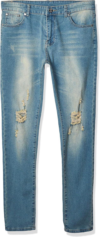 Big Boy's Vintage Ripped Skinny Destroyed Stretch Slim Distressed Jeans Pants
