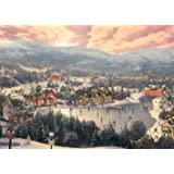 Thomas Kinkade - Sunset on Snowflake Lake - 1000 Piece Jigsaw Puzzle