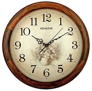 Amazon.com: Adalene 14-Inch Wall Clock Large Decorative Living ...