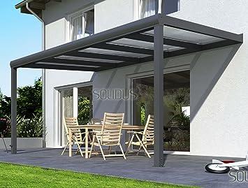 Solidpremium 500x350 cm bxt alu terrassenüberdachung anthrazit