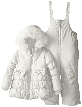 15e26f2eb099 Amazon.com  Rothschild Little Girls  Two Bow Snowsuit