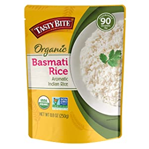 Tasty Bite, Organic Basmati Rice, 8.8 Oz