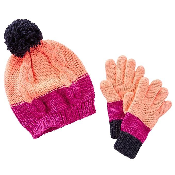 57b1de6b646 Amazon.com  Carter s OshKosh Little Girls  Color Block Knit Hat ...